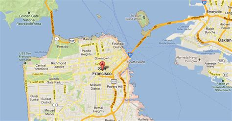 san francisco bridges map san francisco and the golden gate