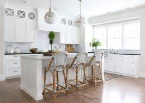 French Laundry Bedding Serena And Lily Riviera Stools Transitional Kitchen