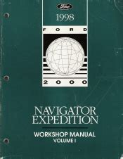auto repair manual online 1998 ford expedition engine control 1998 lincoln navigator ford expedition workshop manual 2 volume set