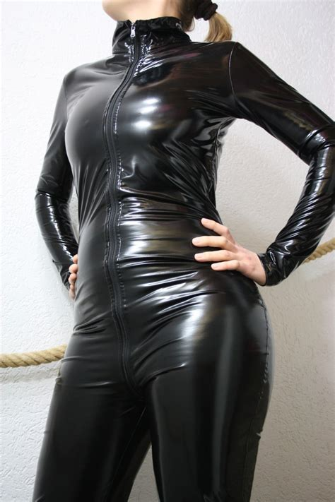 Manisa Overall stretch pvc overall lack catsuit black max height 1 85m all size stcs ebay