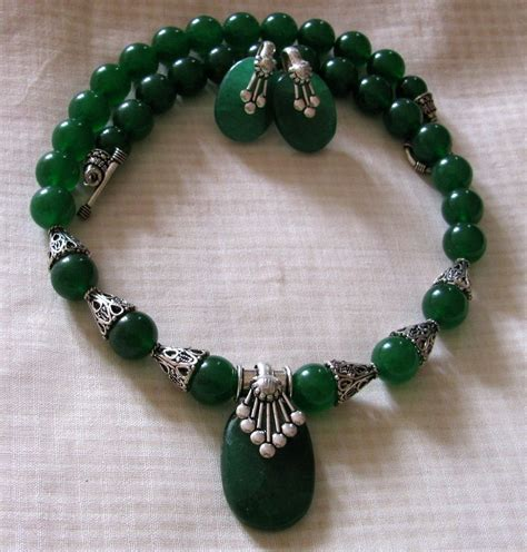 stones for jewelry wholesale green quartz semi precious necklace shopping