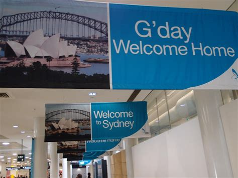 sydney airport sign g day welcome home neerav bhatt