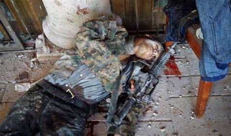 imagenes fuertes de narcos asesinados la jornada mueren 42 presuntos narcos en choque con