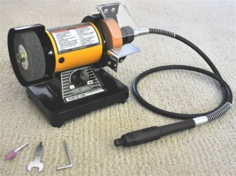 bench grinder and polisher truepower 199 mini multi purpose bench grinder and polisher with flexible shaft tool