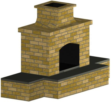 outdoor fireplace plans and building materials