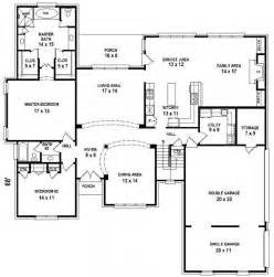 5 Bedroom 3 1 2 Bath Floor Plans by 654206 5 Bedroom 4 Bath House Plan House Plans Floor