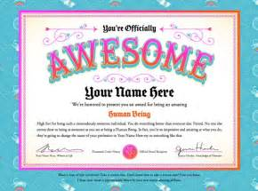 Certificate Of Awesomeness Template by Hahaha Certificate For Team Awesome Creative Ideas For