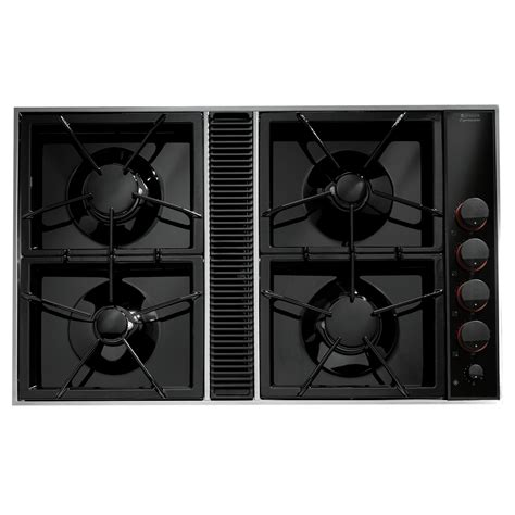 gas cooktop with exhaust fan cvgx2423bjenn air expressions 226 162 34 quot downdraft gas cooktop