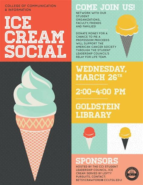 Ice cream social // flyer   Design : Inspiration