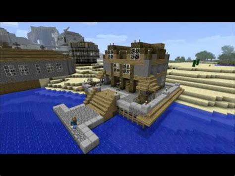minecraft boat dock redstone kayak buid diy easy to how to make a good boat dock in