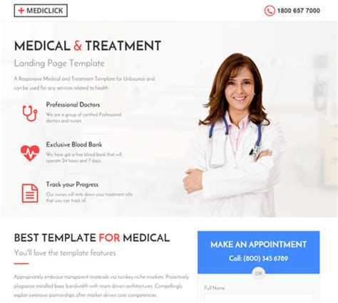 Medical Spa Yoga Fitness Landing Page Template By Surjithctly Themeforest Dental Landing Page Template