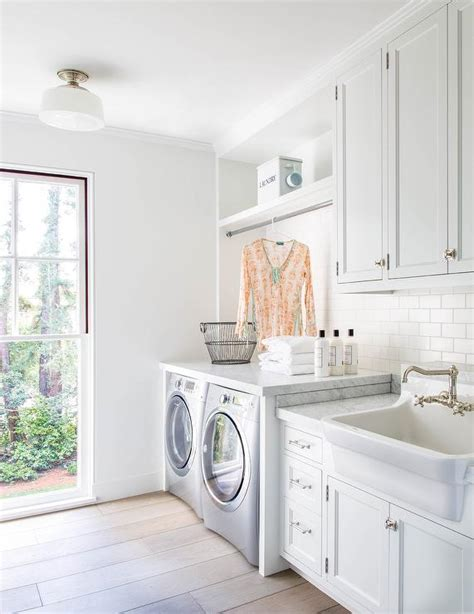 White Laundry Room Cabinets With Stainless Steel Apron White Cabinets For Laundry Room