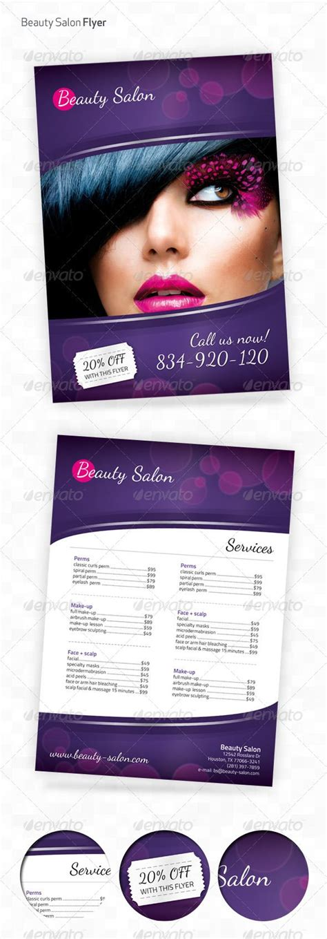 flyer templates nail salon beauty salon a4 flyer chang e 3 fonts and beauty salons