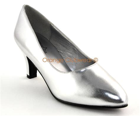 size 9 high heels wide fit pleaser womens wide width 3 quot silver pumps high heels