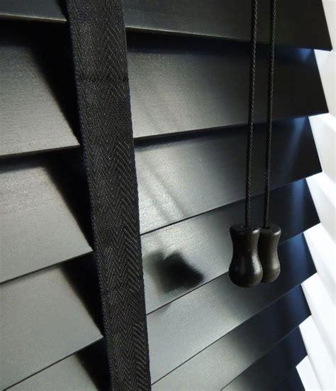 Wooden Tape Blinds Ocerti Designer Black With Tapes Venetian Blind Ocerti