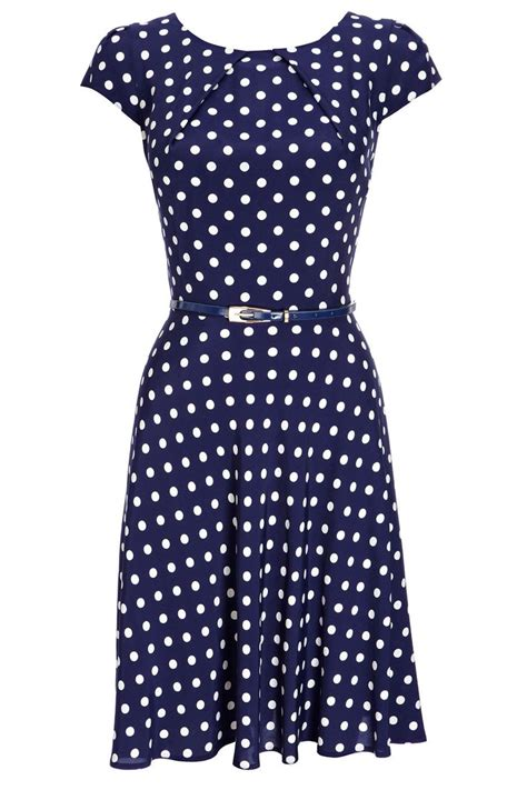 Dress Navy Polkadot polka dots i could rock that polka dots