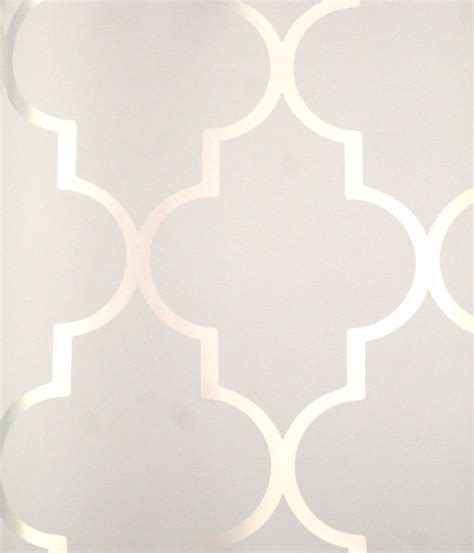 modern wallpaper pinterest silver reflective quot alahambra quot on white contemporary