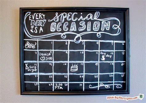 chalkboard diy calendar diy chalkboard projects made by marzipan