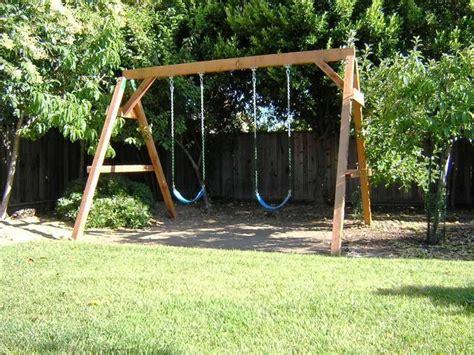 simple swing sets best 25 wooden swing sets ideas on pinterest wooden