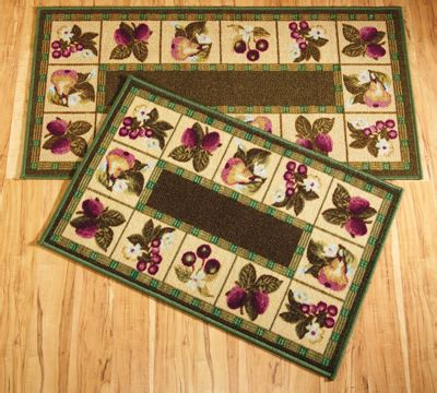 kitchen rugs fruit design fruit border accent rug from collections etc