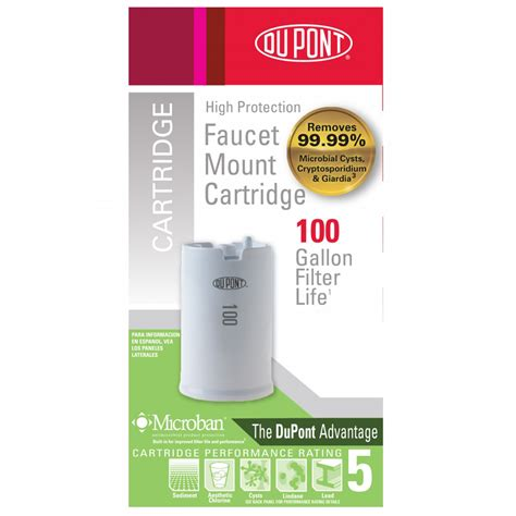 Dupont Faucet Mount Water Filter Reviews by Wffmc100x Dupont Faucet Mount Cartridge High Protection