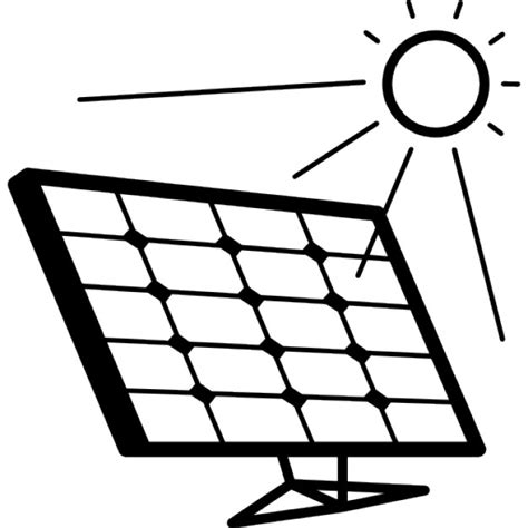 solar panels clipart solar panel in sunlight icons free download