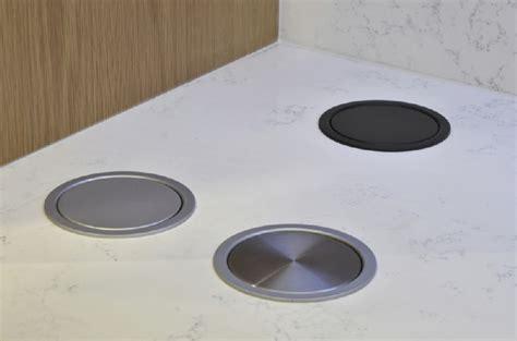 Kitchen Island Worktop Worktop Pop Up Socket Brushed Chrome
