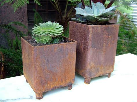 Modern Metal Planters by Staci Southwick Metal Planters
