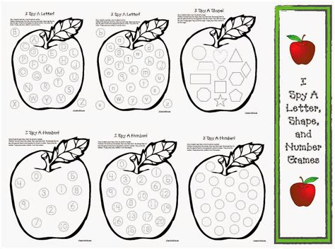 printable letters numbers and shapes classroom freebies apple games i spy letters shapes and