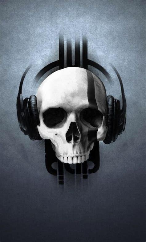 skull  headphones skull wallpaper skull art skull