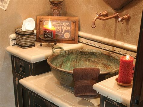 rustic sinks bathroom bathroom sink materials and styles hgtv