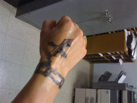 bracelet cross wrist tattoos 16 bracelet tattoos on wrist for