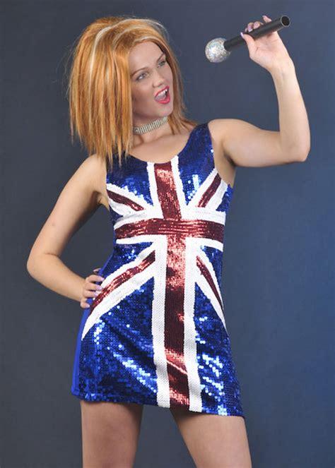 pop star geri ginger spice union jack dress