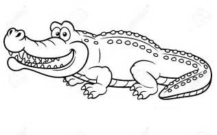 Alligator Coloring Pages On Crocodile 1 From sketch template