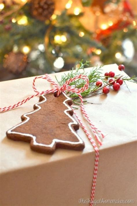 gingerbread ornament out of brown paper brown paper packages up with string with cinnamon ornament ideas