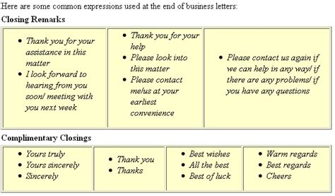 Business Letter Closing Looking Forward Letter Closings Activity 1