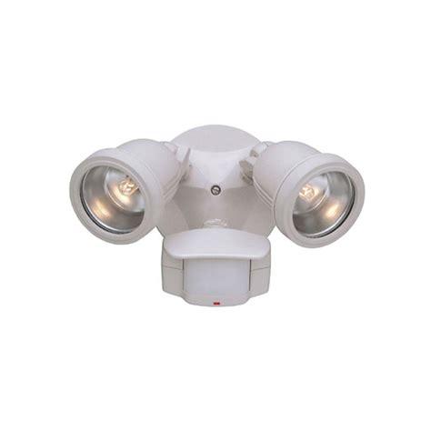 halogen motion sensor light designers fountain area security 2 light white outdoor