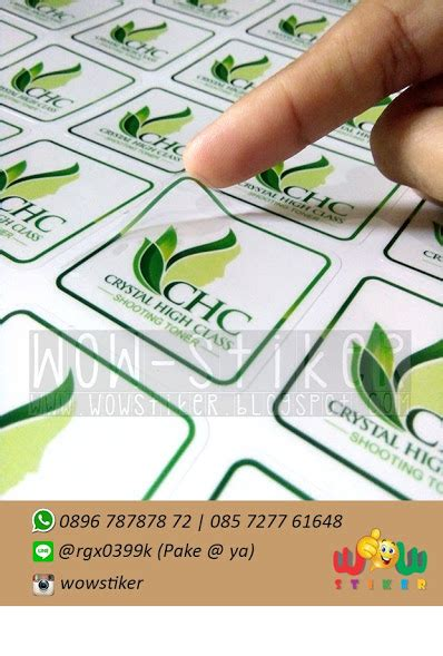 Cosmetic Sticker Stiker Label Pengiriman wow stiker jual sticker skincare transparan murah