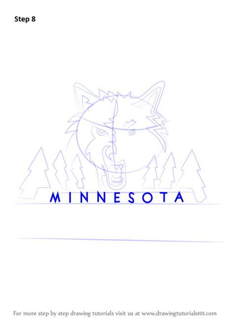 learn   draw minnesota timberwolves logo nba step