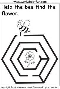 beginner mazes preschool and kindergarten 6 worksheets