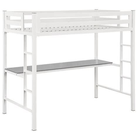 loft bed with desk white walker edison loft bed with desk in white btsqtozwh
