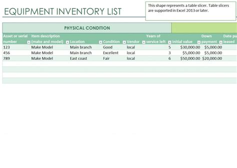 ms excel printable tool inventory sheet template excel templates