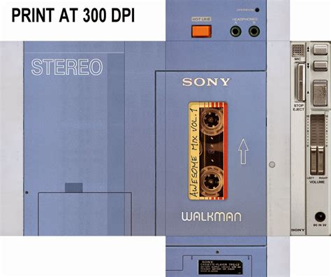 Printable Star Lord Walkman | gotg walkman printable jpg 1 600 215 1 339 pixels halloween
