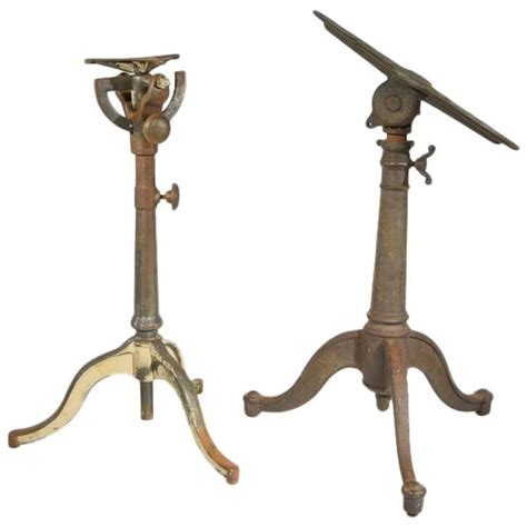 iron drafting table pair of cast iron articulating drafting table bases for