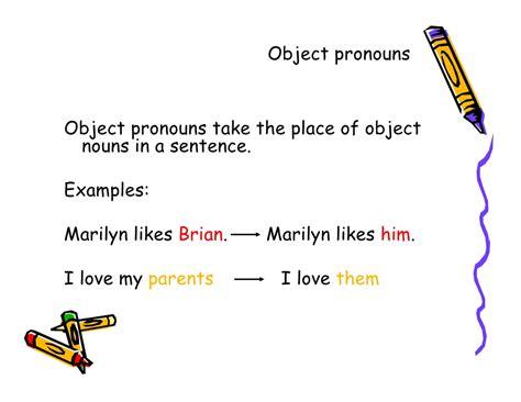 object pronouns exles images