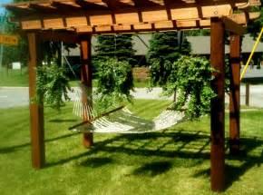 Pergola Hammock Stand Plans by Pergula Hammock Book Happiness House Wanta Be