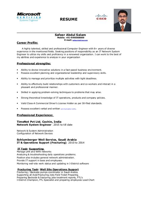 System Engineer Resume by Network System Engineer Resume