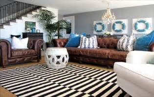 Living room color schemes with brown leather furniture living room
