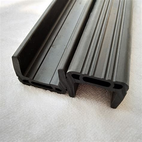u section rubber black epdm u channel section rubber strip china factory