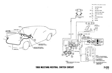 1967 ford mustang ignition wiring diagram free